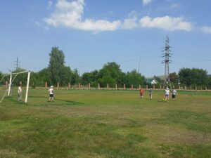 Занятие по закреплению навыков игры в футбол