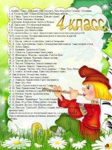 список лит-ры 4 класс