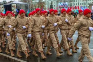 Юнармейцы школьного отряда «Достоинство» — участники  Парада Победы в Самаре 7 ноября 2019 года!